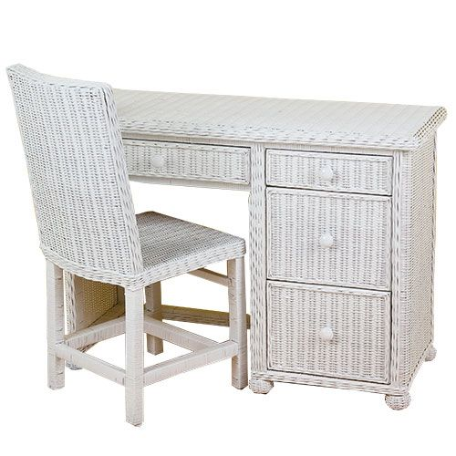 White Wicker Desk Totally Repurposed This Furniture Of