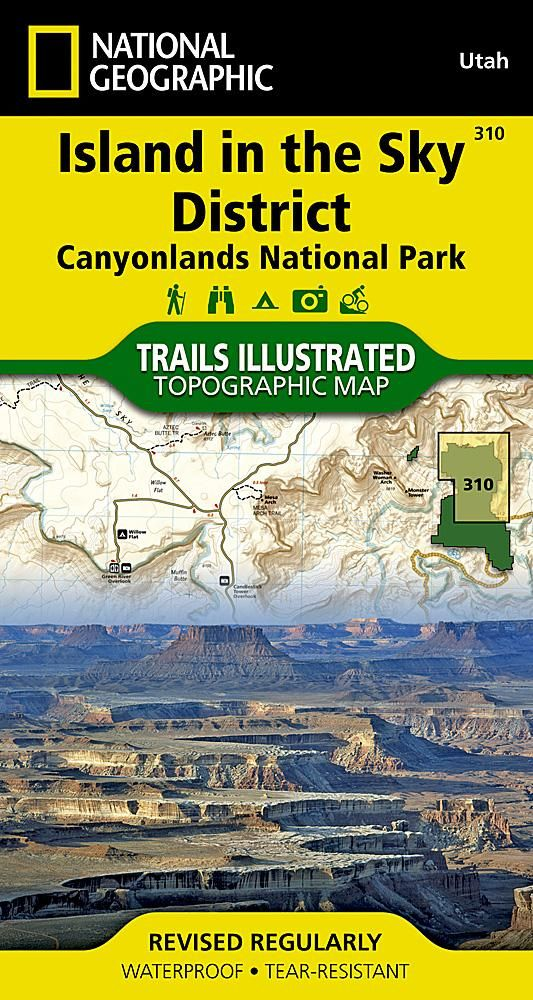 Canyonlands National Park  Island in the Sky District  Map 310 by     Canyonlands National Park  Island in the Sky District  Map 310 by National  Geographic Maps