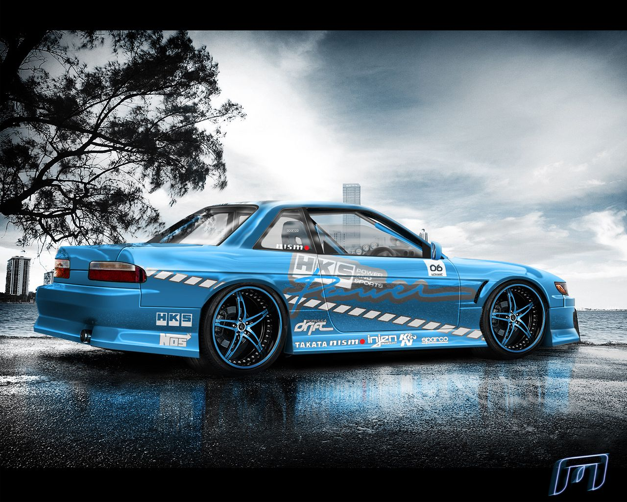 Gentil Nissan Silvia Drift By