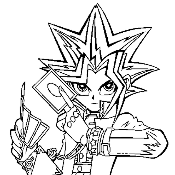 Yu Gi Oh Cartoon Coloring Pages Coloring Pages Coloring Pages