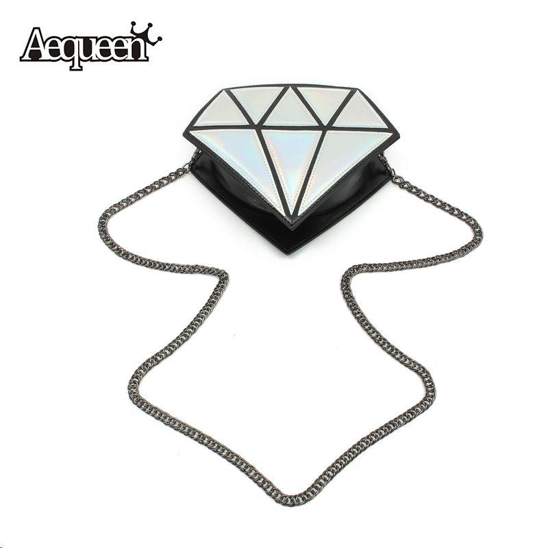 3d女性バッグダイヤモンド形状小さなショルダーチェーンレディーガールメッセンジャークロスボディサッチェルパッチワークトートイブニングバッグキャンディー色