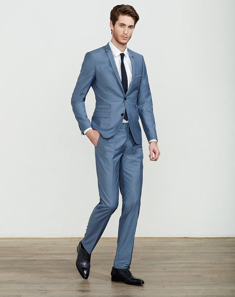 costume bleu gris hommetendance menssuits modehomme couleur costume pinterest. Black Bedroom Furniture Sets. Home Design Ideas