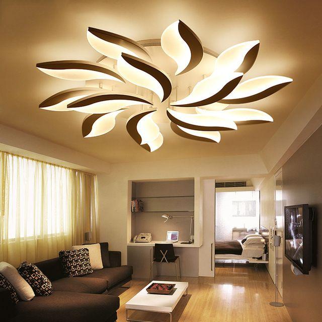 Modern Led Ceiling Lights For Study Bedroom Indoor Home Lighting Creative Flower Shape Lamp Jpg 640x640 640