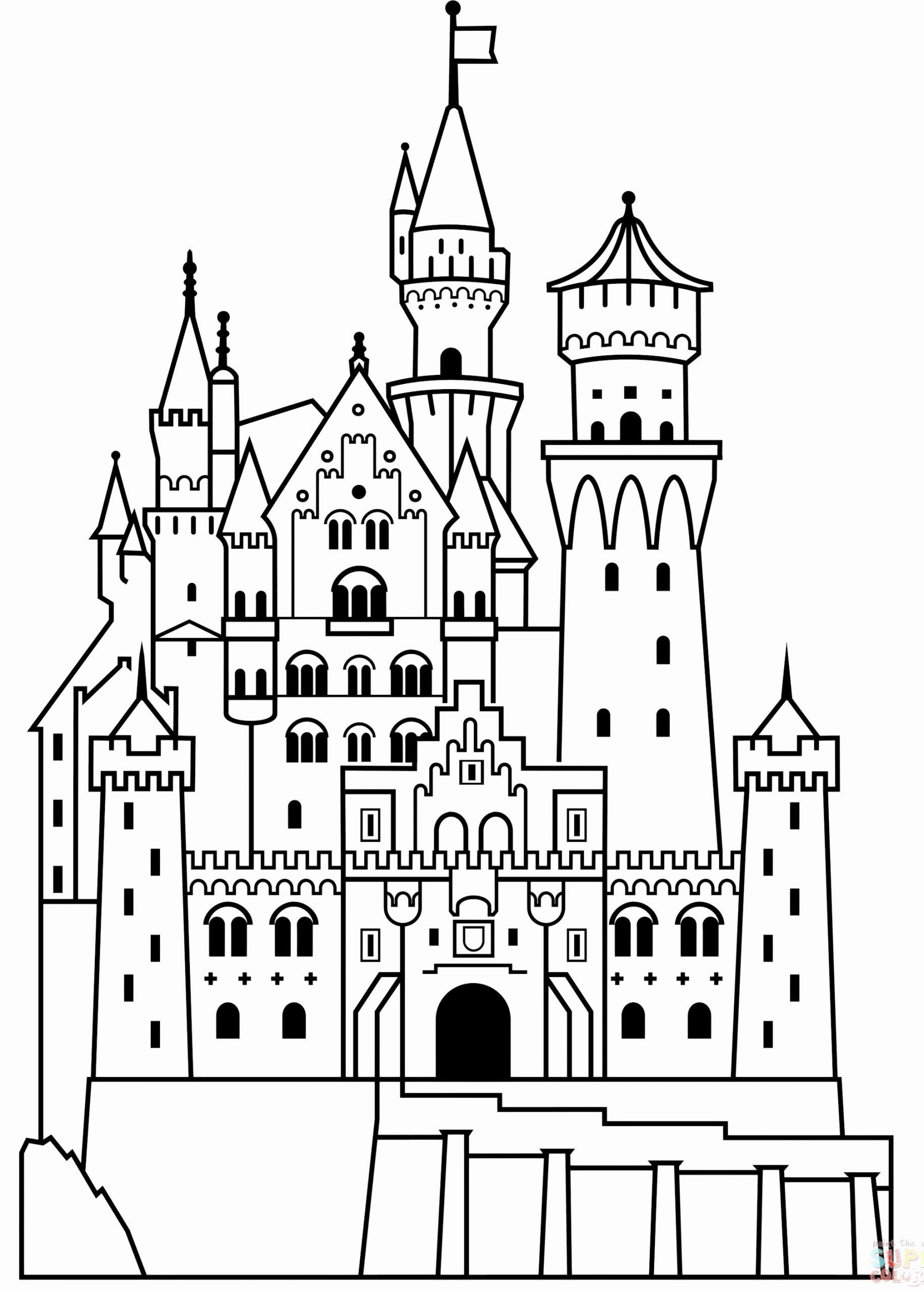 Disney World Coloring Book In 2020 Castle Coloring Page