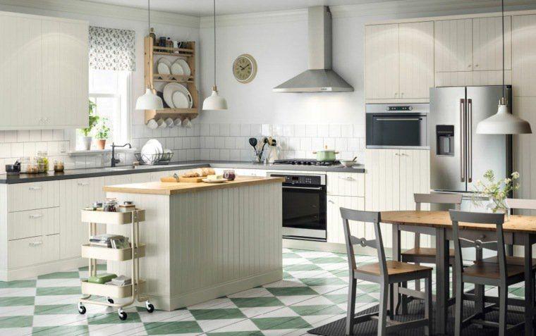 ikea cuisine plan travail ilot central bois hotte aspirante table - plan ilot central cuisine