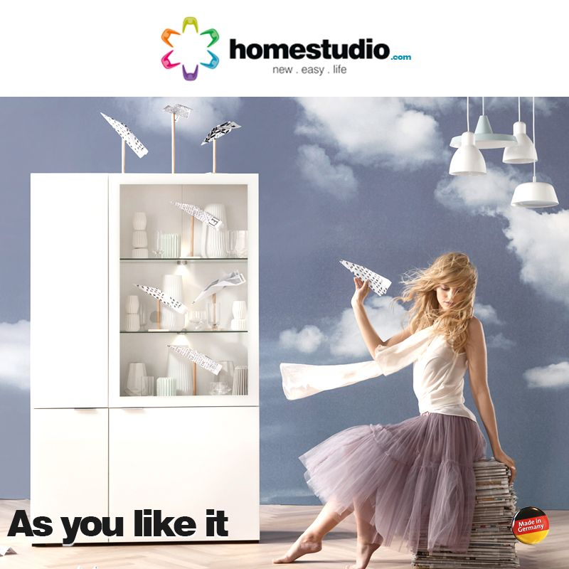 Multi-purpose shelving units. Use it anywhere you like. Helps you with crockery, books and also with your favorite display collections. Log into www.homestudio.com #homestudio #furniture #shelvingunits #crockeryunit