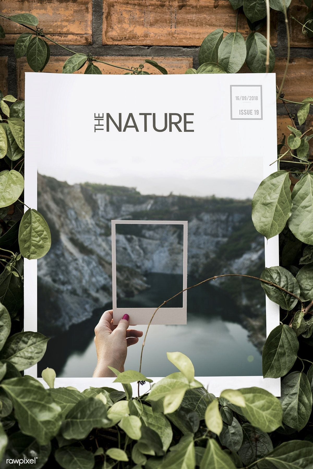 Download Premium Image Of Nature Magazine Mockup 296572 Magazine Mockup Nature Images Nature