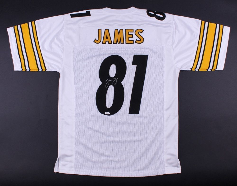 huge selection of 690e4 6ac94 Jesse James Pittsburgh Steelers Hand Signed Jersey JSA ...