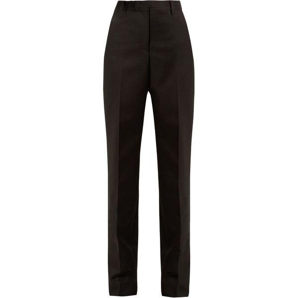 Maison Margiela High-rise straight-leg wool trousers ($1,290) ❤ liked on