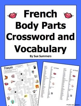 French body parts crossword puzzle and image ids worksheet french body parts crossword and image ids worksheet and vocabulary by sue summers contains 35 voltagebd Gallery