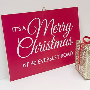 Personalised Christmas Wall Decoration - christmas decorations