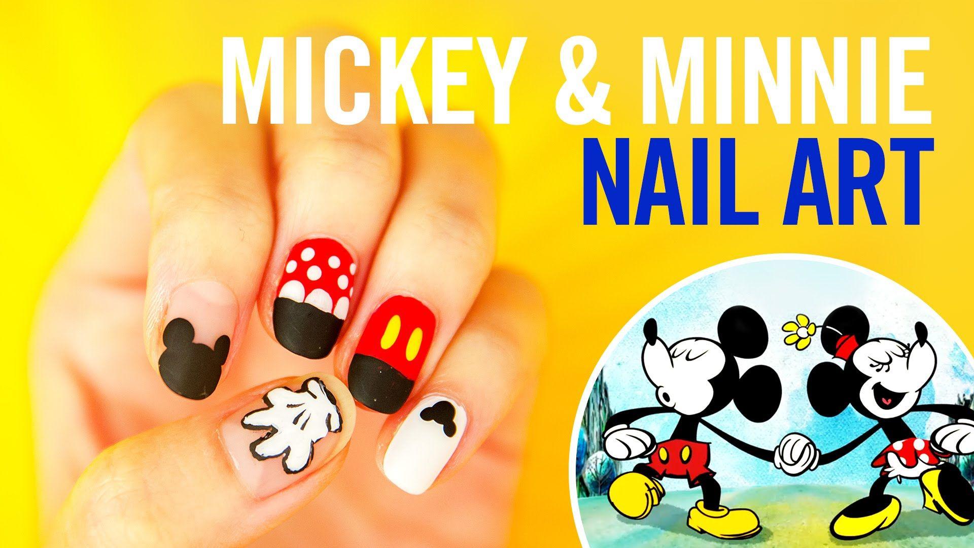 Mickey Minnie Nail Art Tutorial Stephstonenails Tips By
