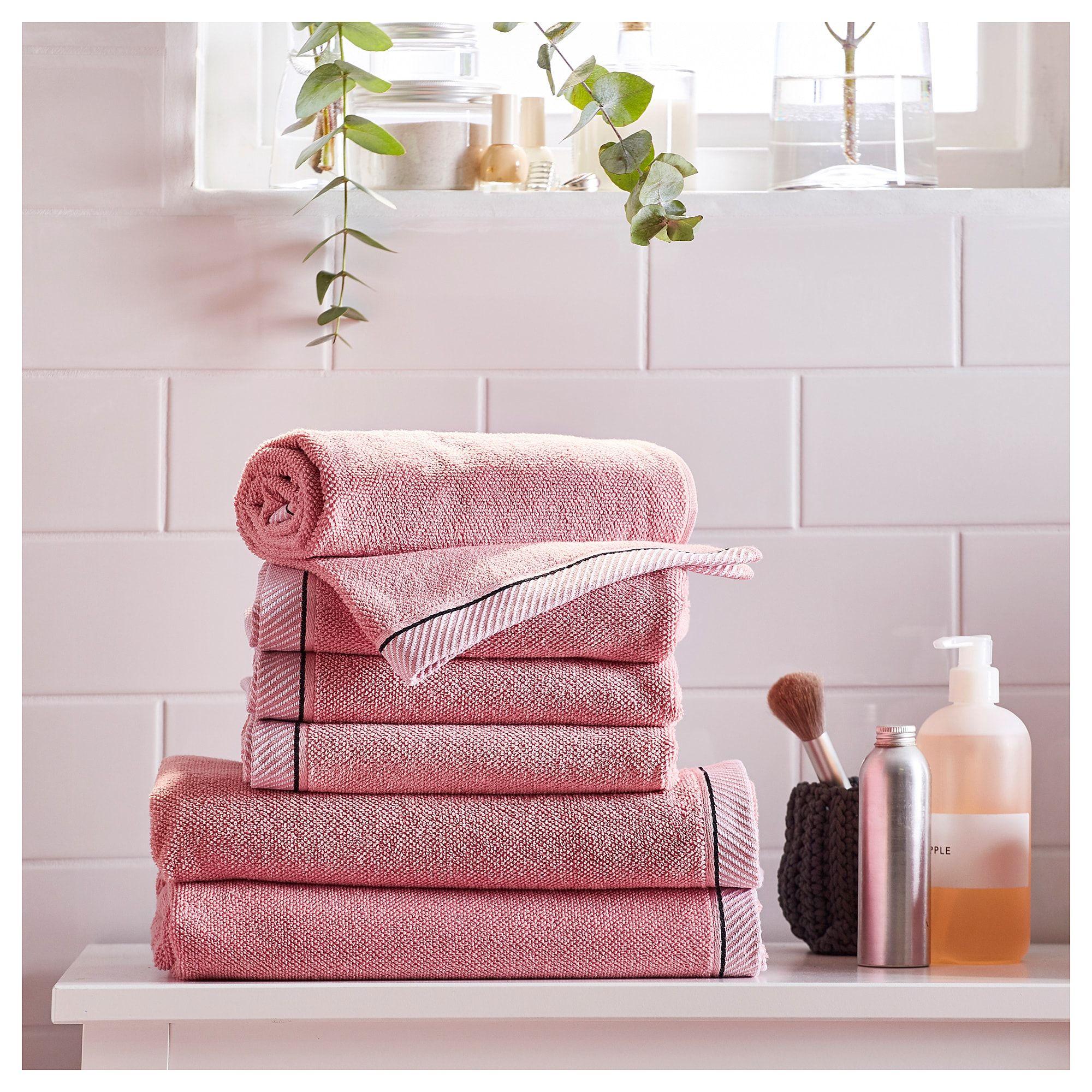 Vikfjard Bath Towel Pink 28x55 With Images Towel Bath