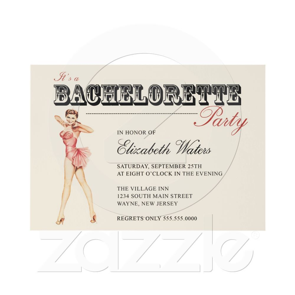 Love the vintage pin-up bachelorette party invite!! | My favorite ...