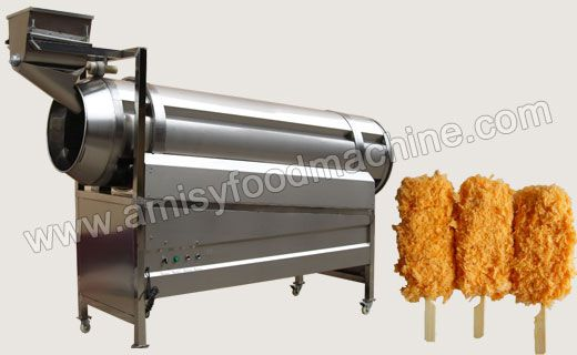 Roller Type Food Flavoring Machine can be used for seasoning and mixing peanut, broad bean, puffed food, etc. The length   and diameter of the roller can be customized. The machine can be used alone or in production lines. Product link: http://goo.gl/T8ZFtz Email: info@shellingmachine.com