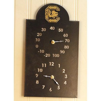 HensonMetalWorks NACC Outdoor Thermometer and Clock NCAA Team: University of South Carolina