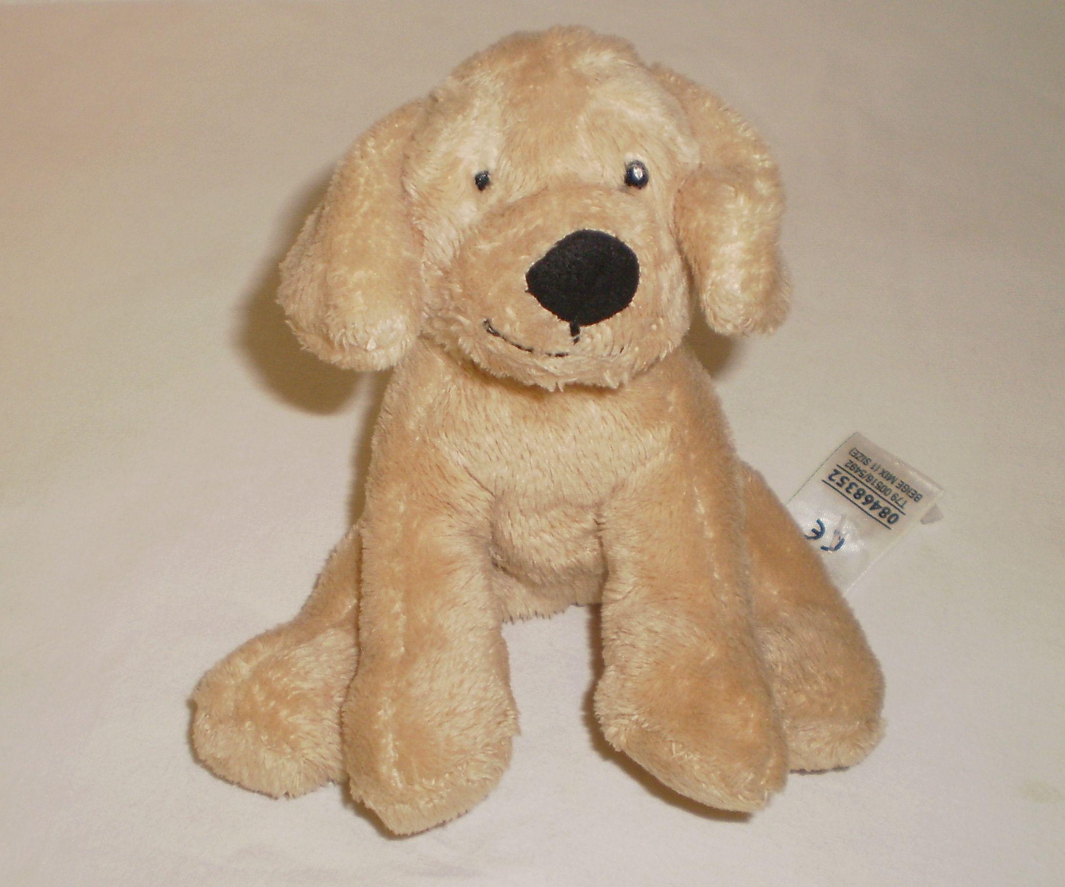 Marks And Spencer M&S Beige Beanie Bean Bag Dog Puppy