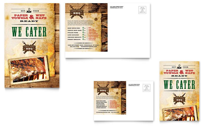 Hunting Guide Flyer - Word Template \ Publisher Template - microsoft word restaurant menu template