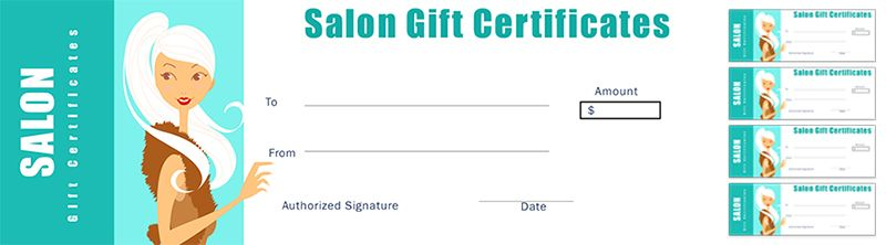 Free Salon Gift Certificate Template For Nail Salon Hair Salons