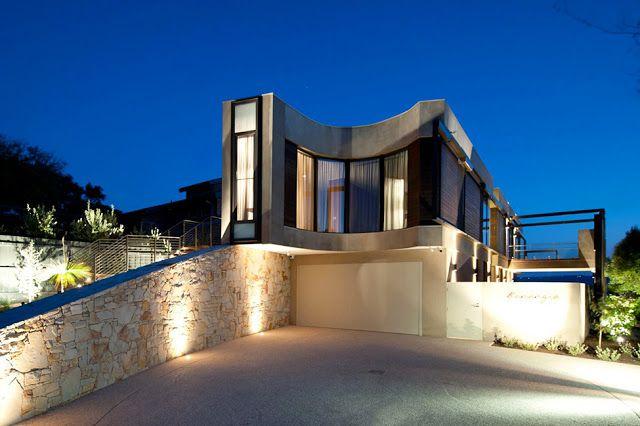 DISEÑO DE CASA MANSIÓN CURVA : Diseño de Casas Home House Design
