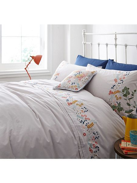 Flower Embroidery Pillowcase Pair Duvet Covers Home Duvet