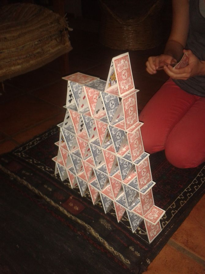 Build a Tower of Cards Playing card crafts, Cards, Tower