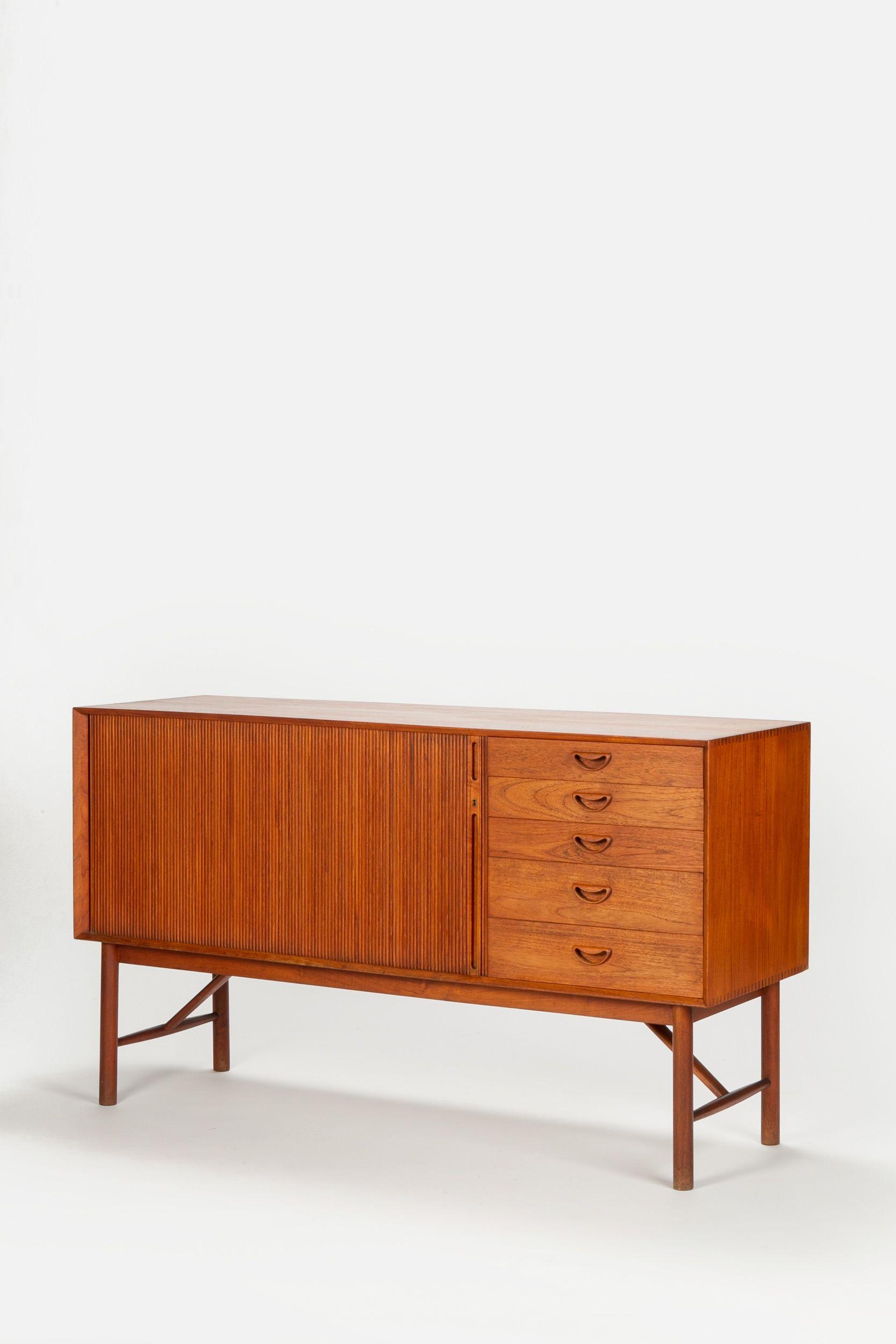 Hvidt Molgaard Nielsen Sideboard Teak Modernes Mobeldesign Vintage Mobel 60er Mobel