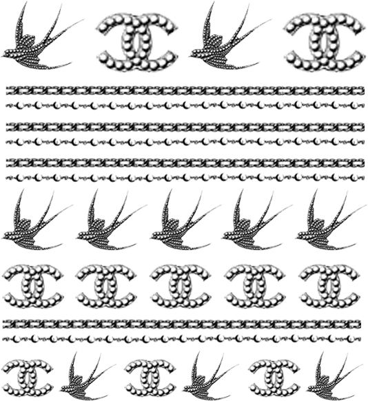 Nail Apparel - Chanel Bird   Nails   Pinterest   Nail decals, Bird ...