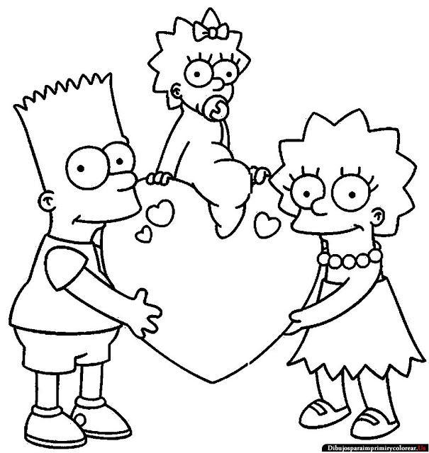 Dibujos de Los Simpson para Imprimir y Colorear | Comedy | Pinterest ...