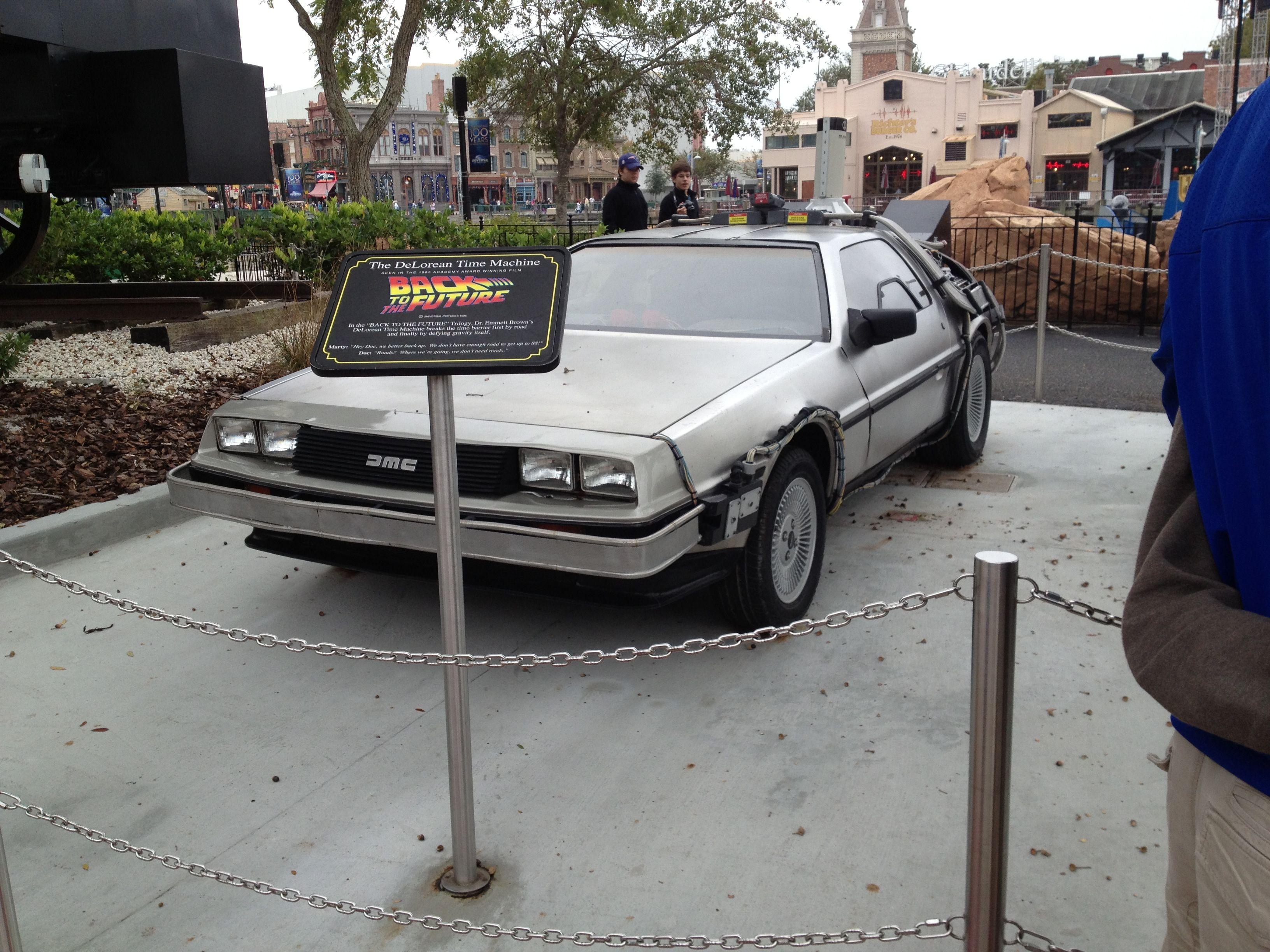 The Actual Time Traveling Delorean From Back To The Future Universal Studios Orlando Universal Studios Florida Orlando Theme Parks