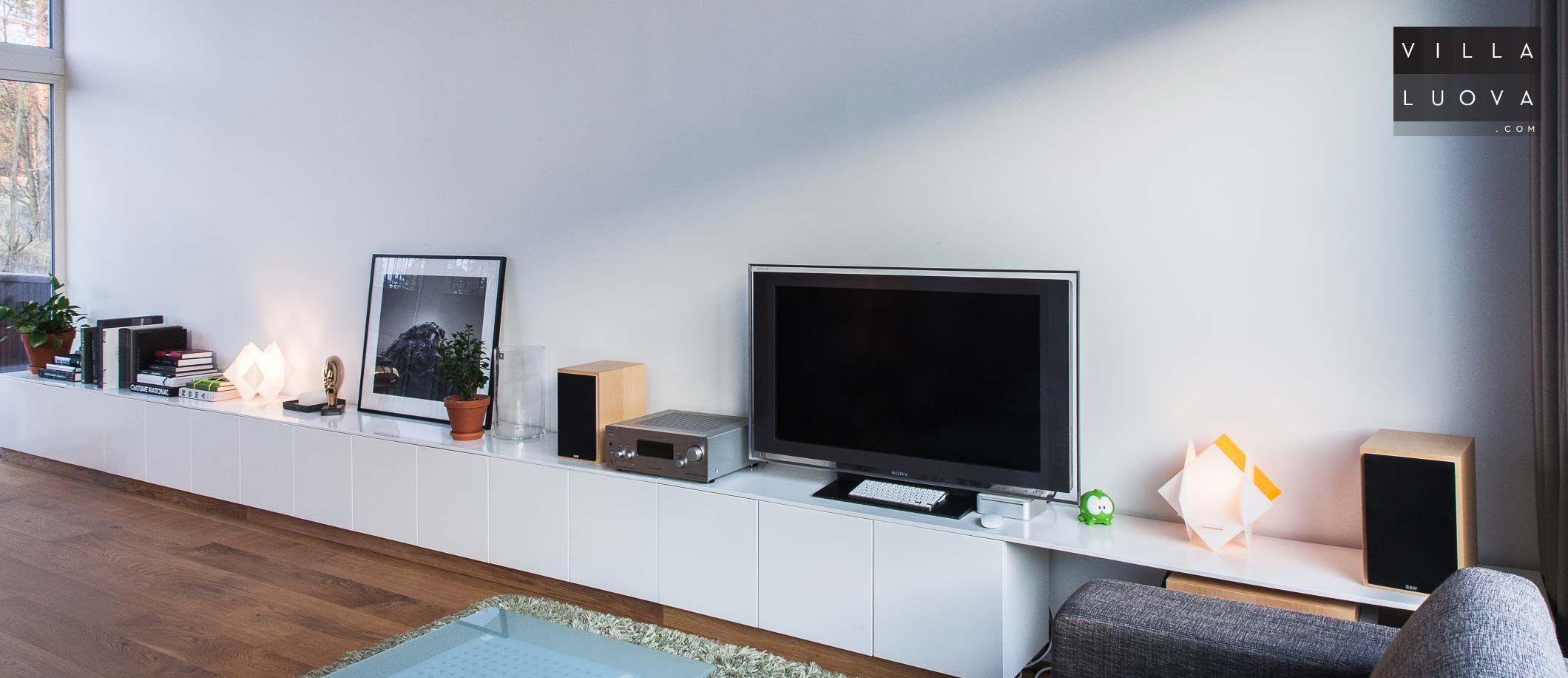 Ikea Hack Seitsem N Metrin Tv Taso Keitti Kalusteista Ergo  # Meuble Tv Ikea Besta Burs Noir