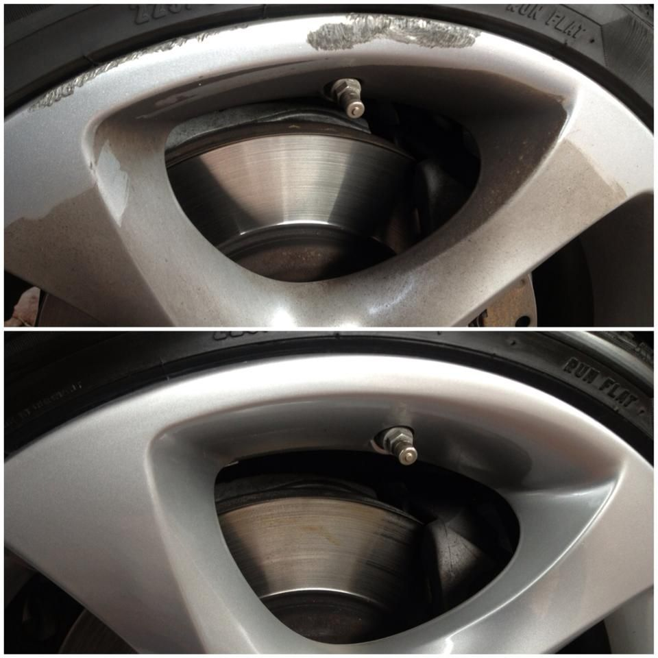 BMW Rim Refurbishment before and after. Felgen