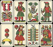 German Playing Cards Wikipedia Cards Card Design Playing Cards