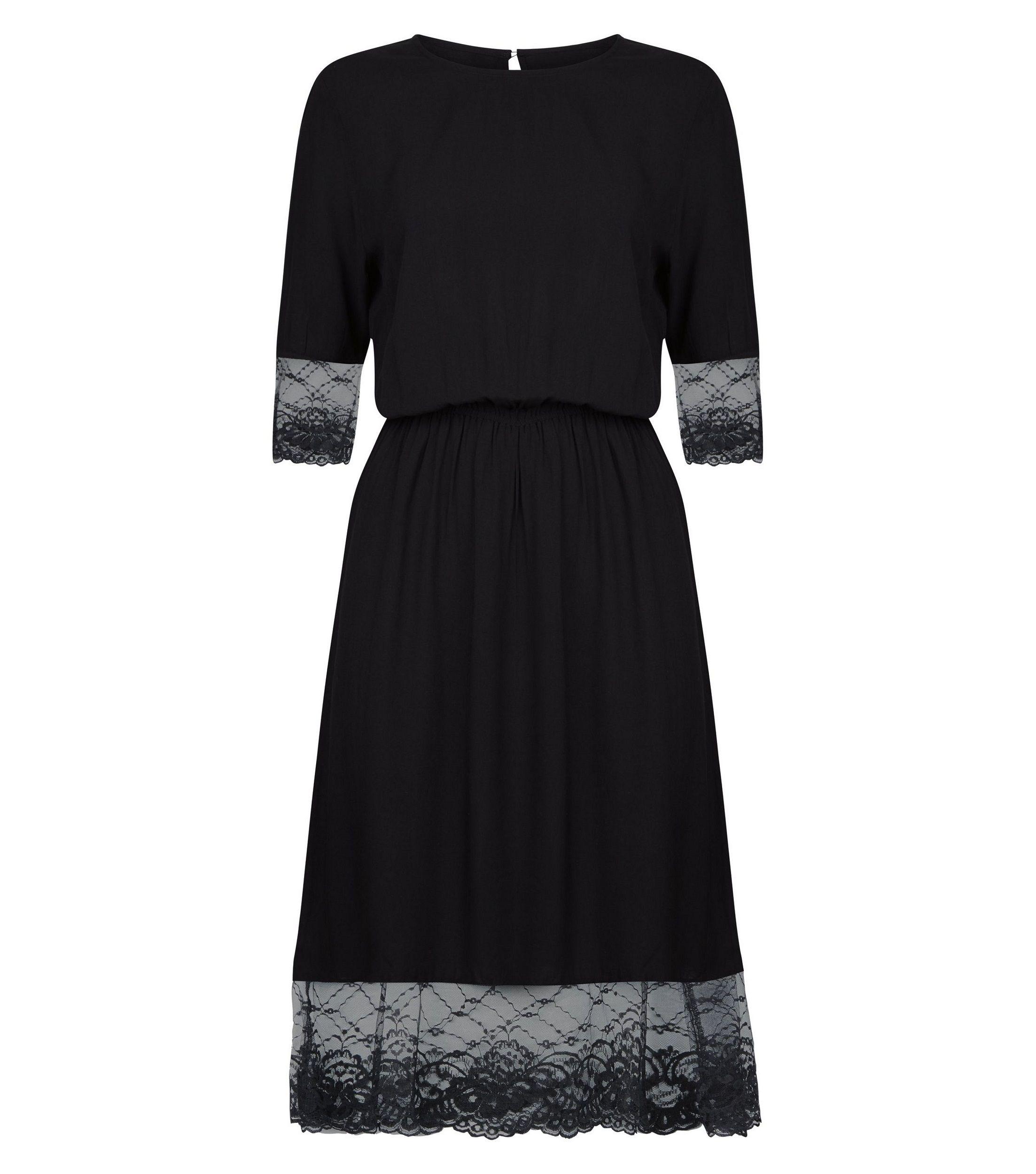 Robe noire en dentelle new look shopping pinterest shopping