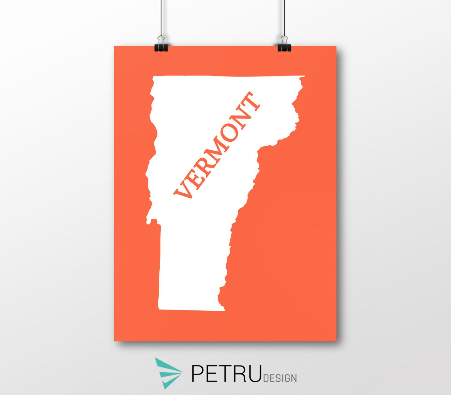 Vermont print - Vermont art - Vermont poster - Vermont wall art - Vermont printable poster - Vermont map - Vermont Sunset art - Instant by Exit8Creatives on Etsy