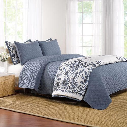 jennifer adams 6 pc bedding set bedroom bed bedding sets bed ensemble. Black Bedroom Furniture Sets. Home Design Ideas