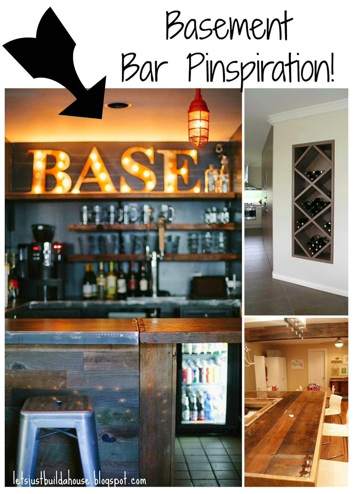 Rustic Chic Manly Basement Finish | Basement Bar | Wet Bar | Wine Nook