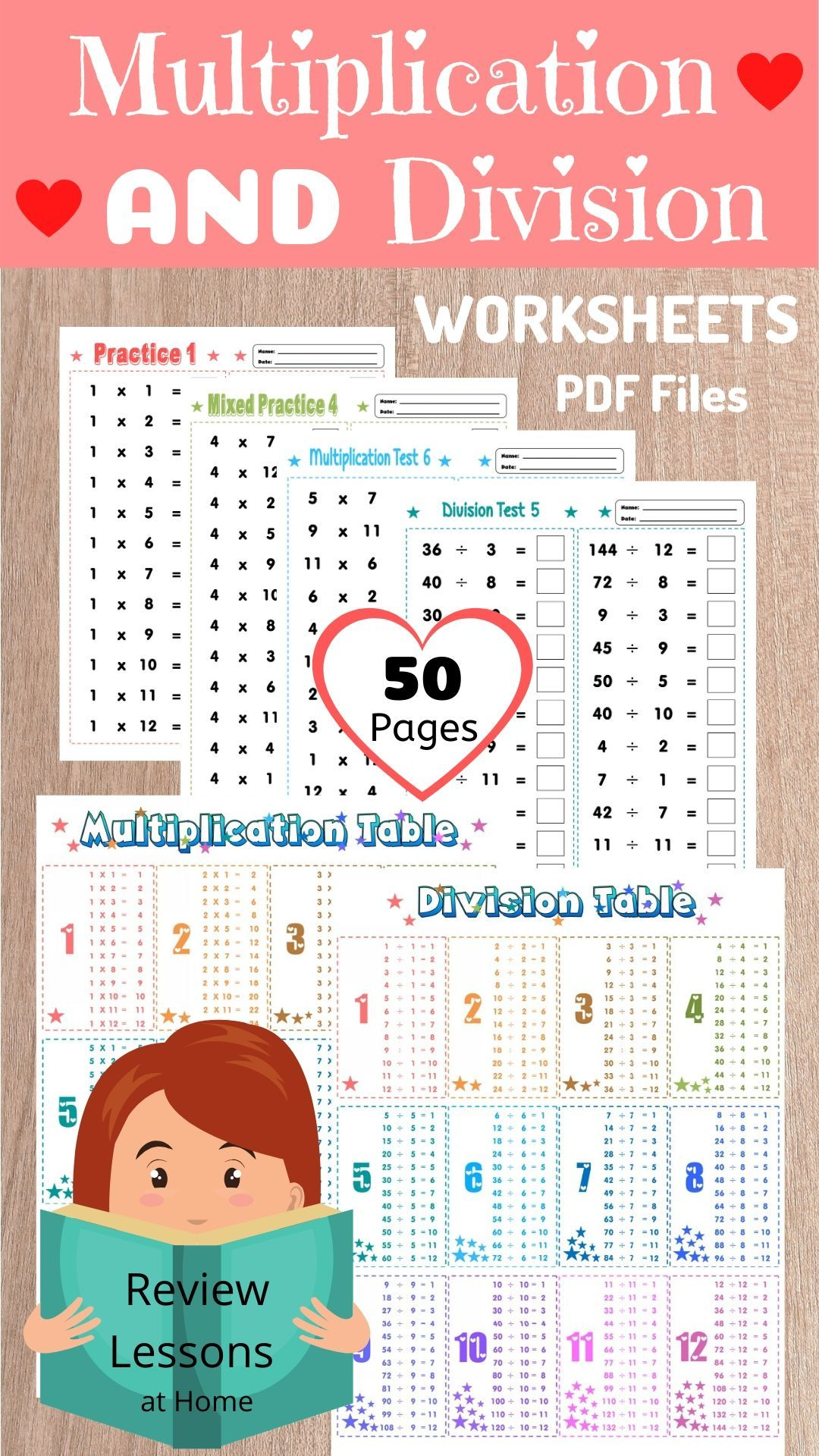 50 Multiplication And Division Worksheets Printable 1 12