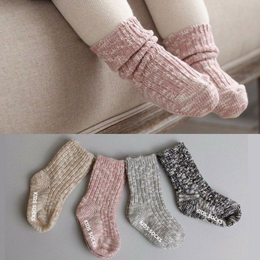 Buddy Kids Knitted Leg Warmers for Girls and Boys with Cute Pattern