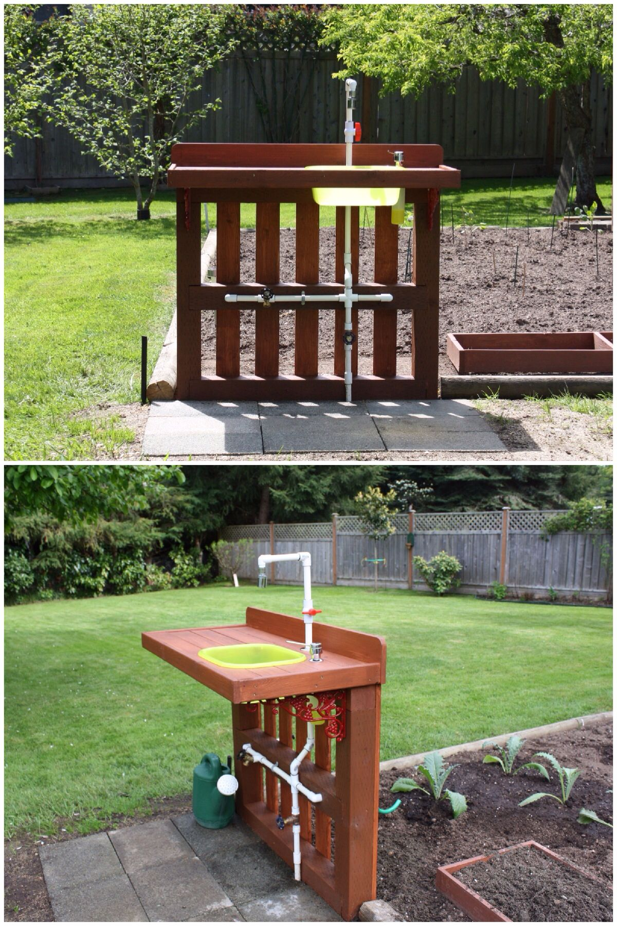 Garden Wash Stand. Designed and built in 2009, featuring a ... on Outdoor Sink With Stand id=22393