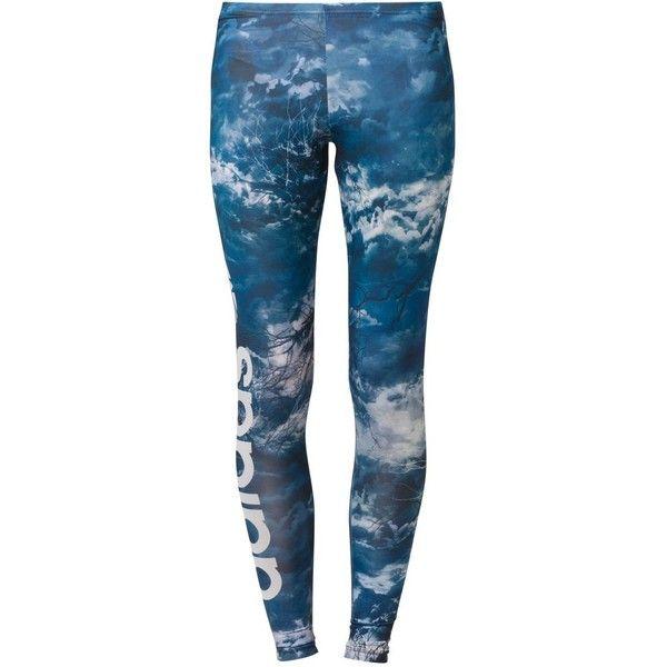 adidas Originals NIGHT Leggings (32 AUD) ❤ liked on Polyvore featuring pants, leggings, calças, bottoms, blue, blue pants, blue leggings, adidas originals, adidas originals pants and legging pants