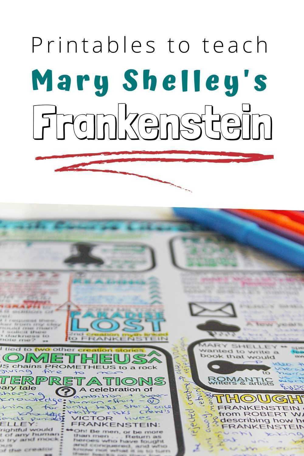 Printables For Frankenstein By Mary Shelley In 2020 Crash Course Literature Crash Course Literature