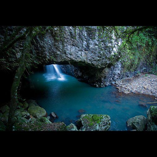 Natural Arch or otherwise known as Natural Bridge in Springbrook National Park