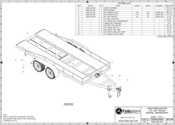 2 5 Tonne Car Trailer Fabplans These Easy To Follow Box