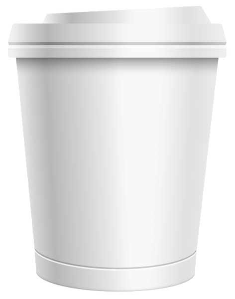 Plastic White Coffee Cup