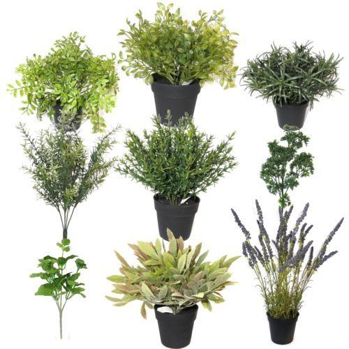artificial herb plant decorative plastic plants choose from list