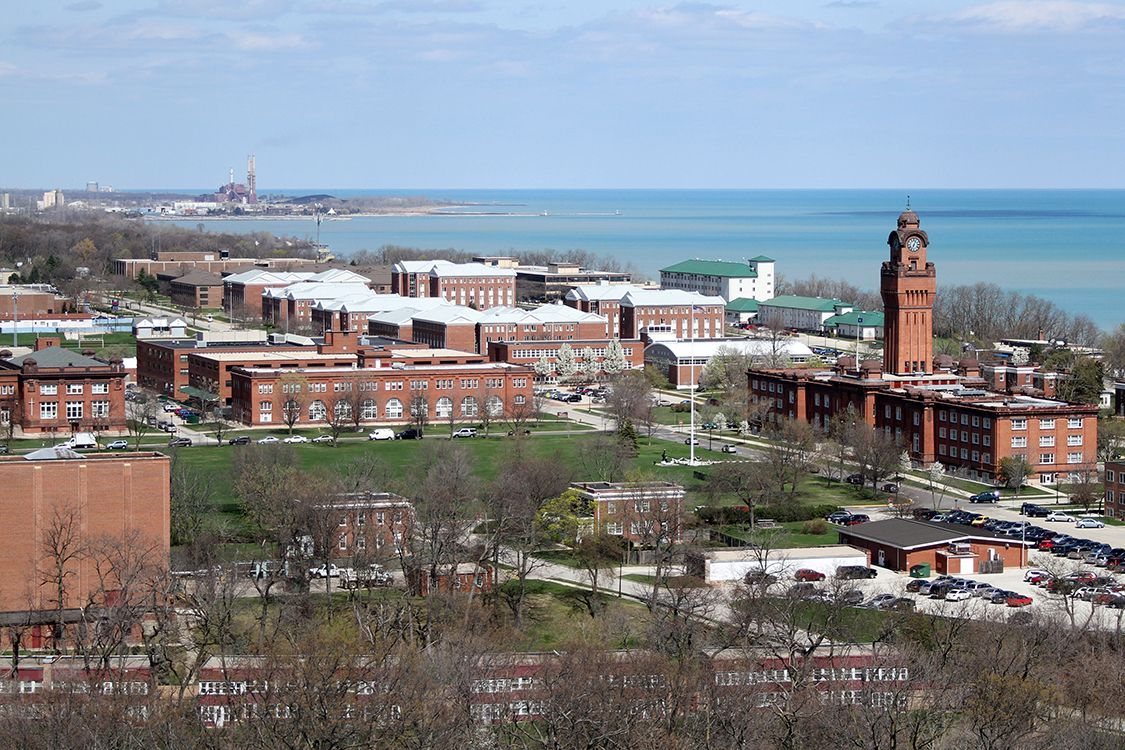 Naval Station Great Lakes is a large and busy place More than