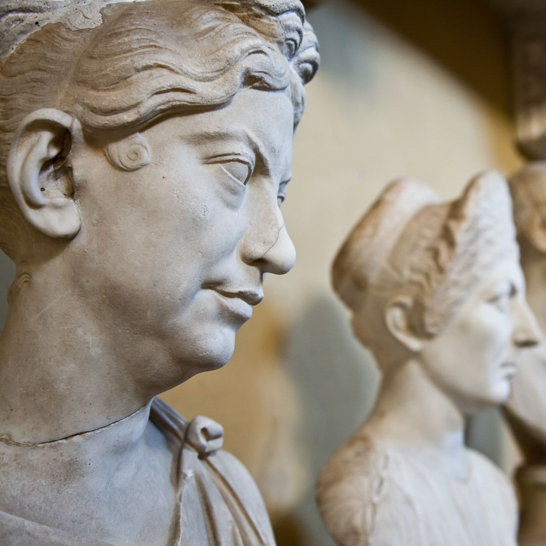 Vatican Museums, Rome, Italy: collection of statues Photo ...