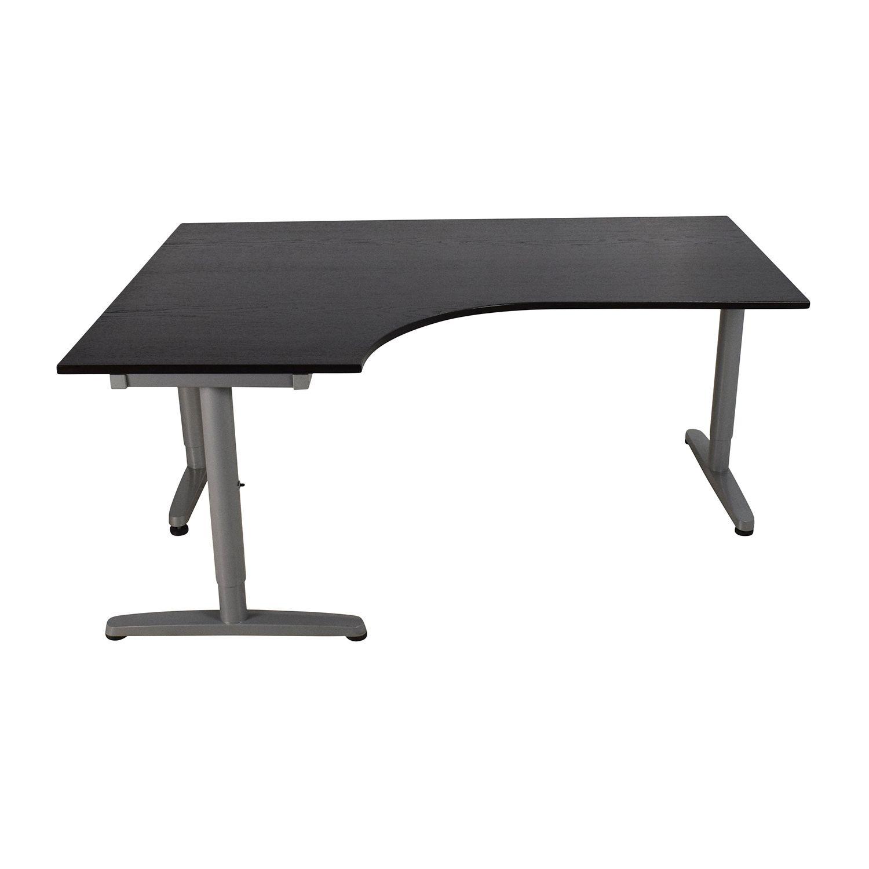 Corner Desk Ikea Organization Ideas For Small Desk Check More At Http Www Gameintown Com Corn Ikea Galant Desk Black Home Office Furniture Ikea Corner Desk