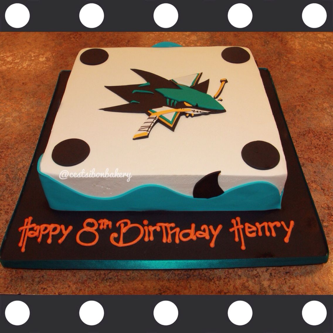 Strange San Jose Sharks Hockey Cake With Images Drake Birthday Party Funny Birthday Cards Online Inifofree Goldxyz